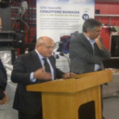Inauguration chaufferie Biomasse EADS